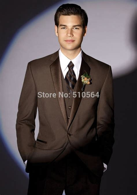 2014 free shoping Custom Made coffee color Tuxedos Best