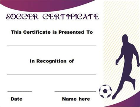 soccer certificate templates for word editable soccer award certificate templates free premium templates creative template