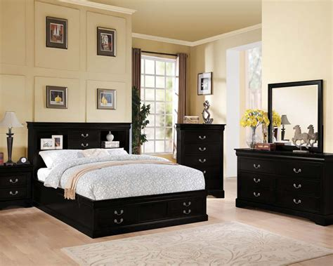 Black Bed Room Sets Acme Black Bedroom Set Louis Philippe Iii Ac24390set