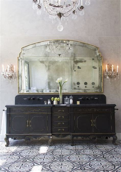29 Vintage And Shabby Chic Vanities For Your Bathroom Antique Black Bathroom Vanity