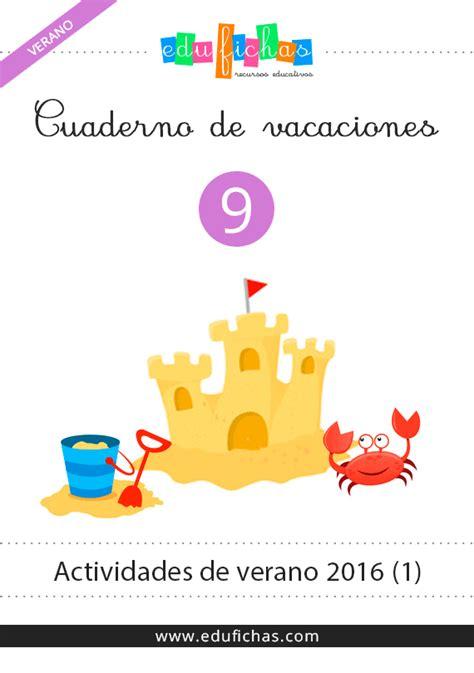 vacaciones infantil 4 aos cuaderno de verano 2016 actividades para vacaciones