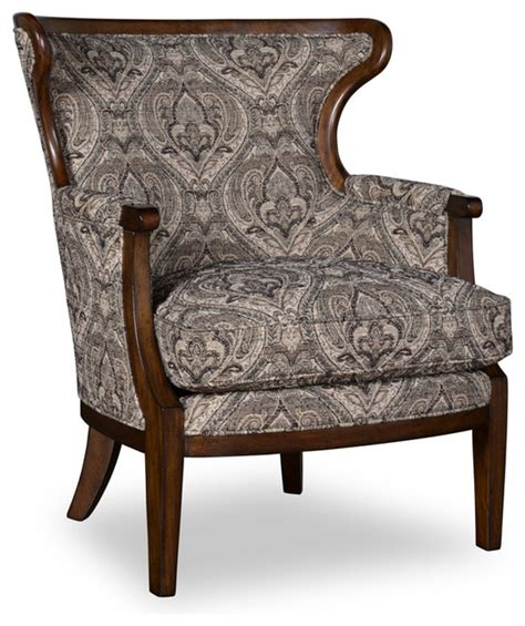 livingroom accent chairs a r t wood trim accent chair in loden traditional