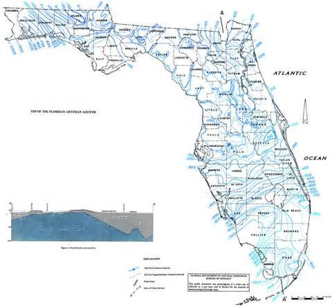 top of the floridian artesian aquifer 1973