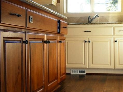 painted or stained kitchen cabinets mixing painted and stained kitchen cabinets