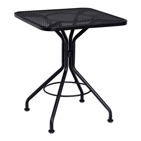 Square Bistro Table Contract Mesh 24 Quot Square Bistro Table Woodard Furniture