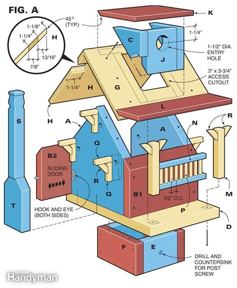 build  backyard birdhouse  family handyman
