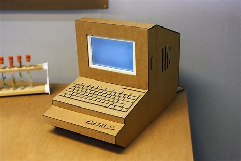 How To Make A Paper Laptop - paper lab laser cut cardboard computer this is a