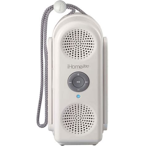 Drop Speaker Water Resistant Ipod Speaker by Ihome Ih20w Shower To Shore Water Resistant Speaker Ih20w B H