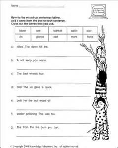 scrambled sentences worksheets images