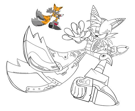 sonic monster coloring page sonic tails coloring pages