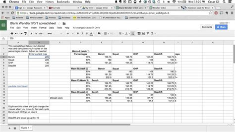 531 bodybuilding template wendler 5 3 1 explained free spreadsheet in description