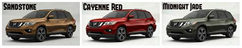 nissan pathfinder colors 2017 nissan pathfinder exterior paint options and interior