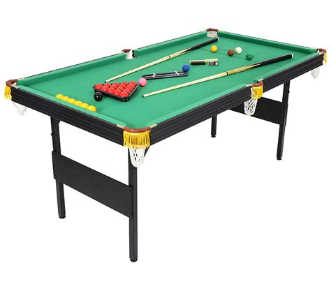 6 ft billiard table 6ft 2 in 1 folding snooker pool table with billiard balls