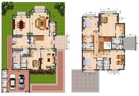 Floor Plans For 4 Bedroom Houses by Prime Villas Floor Plans 4 Semi Detached Amp 5 Bedrooms