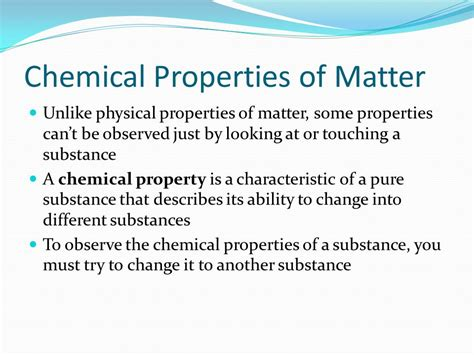 properties of matter for chapter 1 matter physical and chemical properties ppt