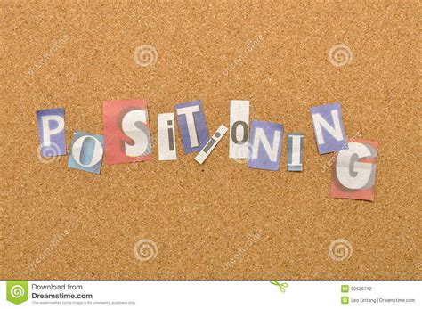 4 Letter Words Made From positioning word made from newspaper letter stock photo