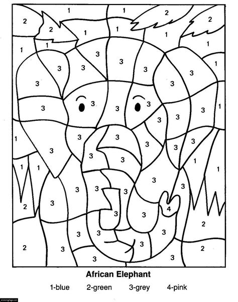Color By Number Pages free coloring pages of color by code