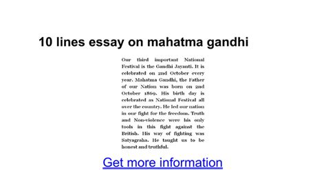 gandhi biography in telugu pdf essay on gandhiji essay on mahatma gandhi in english for