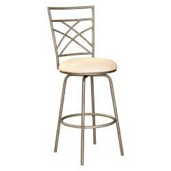 Bar Stool Height Powell 24 In Antique Gold Accented Pewter Counter Height