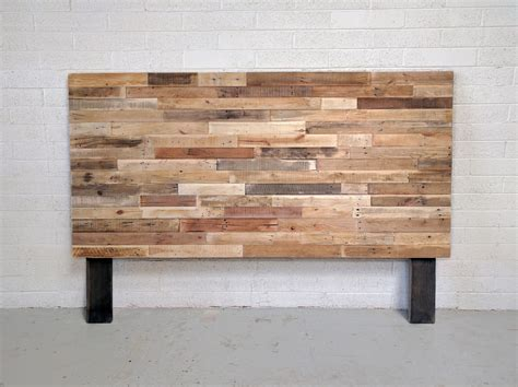 wood king headboards recycled pallet wood headboard or bed custom reclaimed king