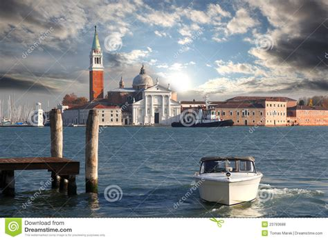 venice motor boat venice grand canal with motor boat royalty free stock