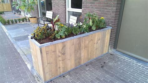 Zelf Plantenbak Maken by Bloembak Steigerhout Designtuinmeubels Steigerhout