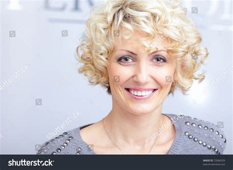 this pretty blond haired middle aged stock photo 86043952 smiling face of a middle aged blonde pretty woman stock