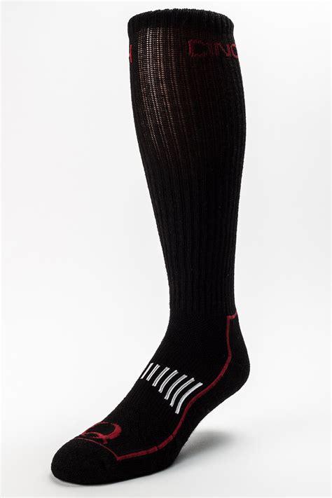 cinch mens black and boot socks