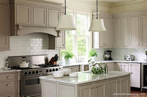 gray kitchen cabinets transitional kitchen atlanta