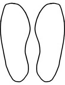 Footprint Pattern Template by Footprints Template Clipart Best