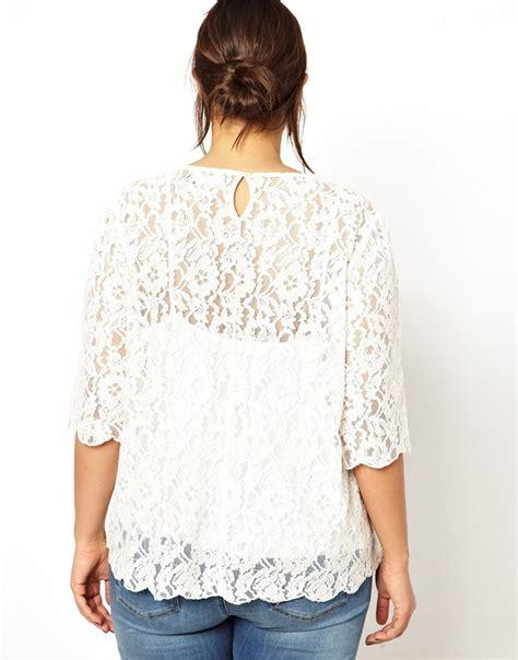 Plus Size Blouse womens half sleeve blouse plus size lace blouse hollow out back design casual blouse for