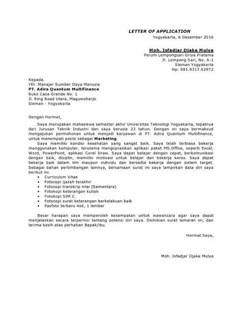 contoh surat lamaran kerja staff finance contoh surat