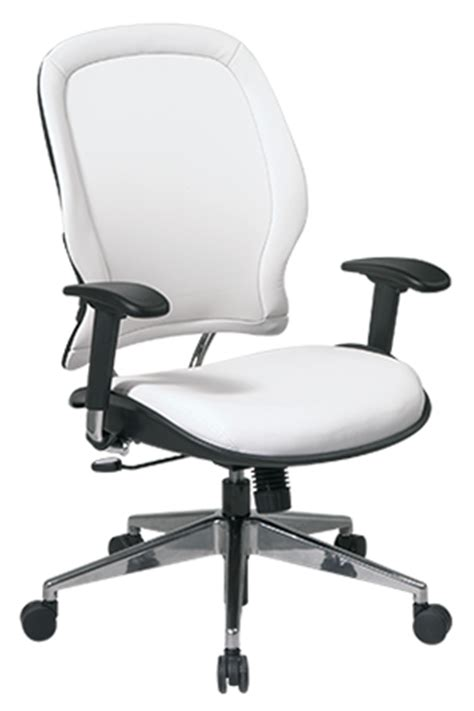 white vinyl managers chair office chairs canada