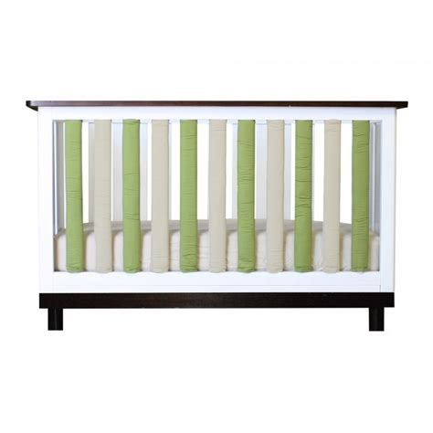 Vertical Bumpers For Cribs by Bumper Vertical Crib Liners Green Khaki