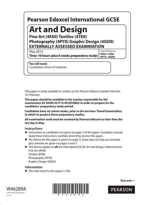 art design edexcel igcse art design exam 2015 by lawrence mcgrath issuu