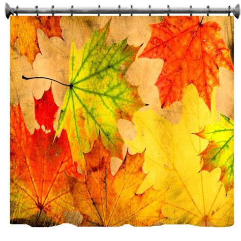 fall shower curtains autumn leaves grunge shower curtain 69 quot x 70 quot