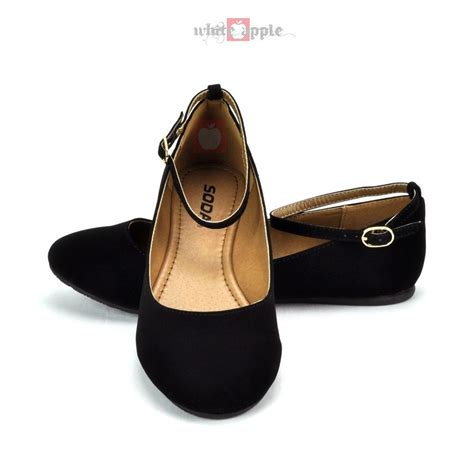 flat shoes with ankle straps toe ballet flat casual ankle shoe soda