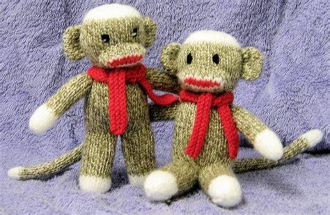 Monkey Knits adorable sock monkey knit pattern via craftsy