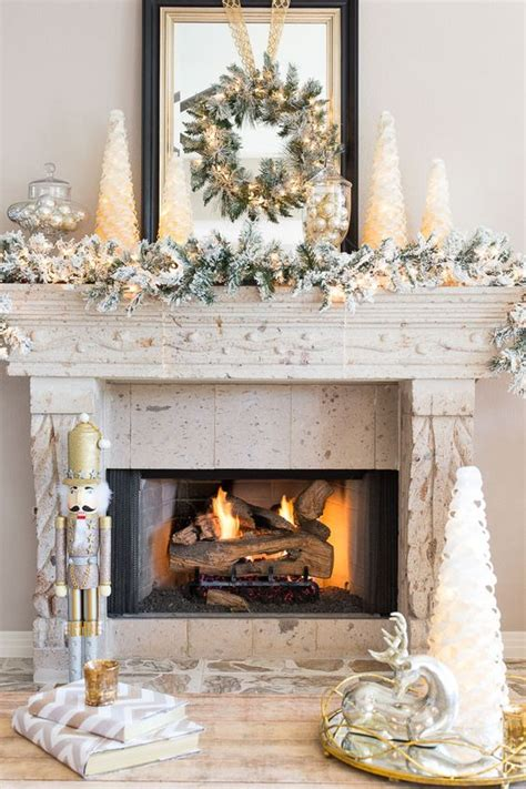 mantel decor my simple winter mantel lighted branches epsom salt and urn diy christmas mantel and decor ideas landeelu com