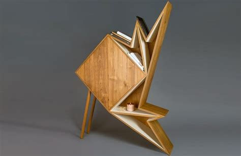 Origami Furniture - origami inspired cabinets origami furniture