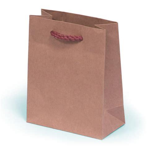 kraft paper gift bag with rope handles 13 x 6 x 16cm rpk13