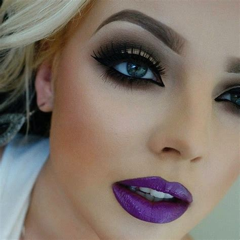 Lip Cheeck Eye Color instagram post by urte m ummakeupartistry purple smokey eye makeup and