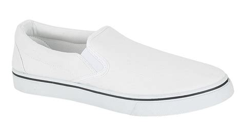 mens slip on pumps canvas deck shoes white size 9 ebay