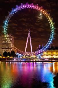 Rainbow Duvet Cover Big Wheel Aka London Eye Lit Up With Photograph By Axiom