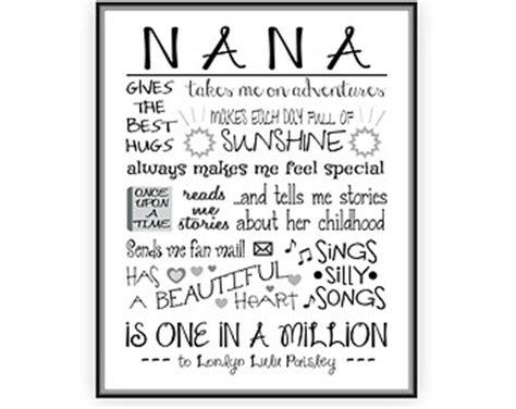 printable grandma quotes printable personalized grandma gift custom printable