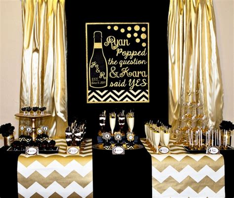gold and bridal shower bridal shower ideas themes