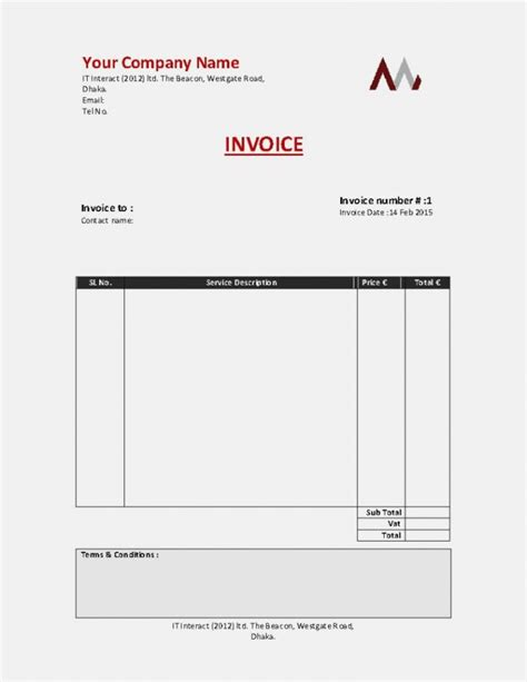 template invoice for self employed invoice for self employed template denryoku info