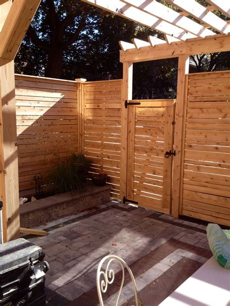 Pre Made Trellis Panels Pre Made Cedar Horizontal Fence Panels With Gate And