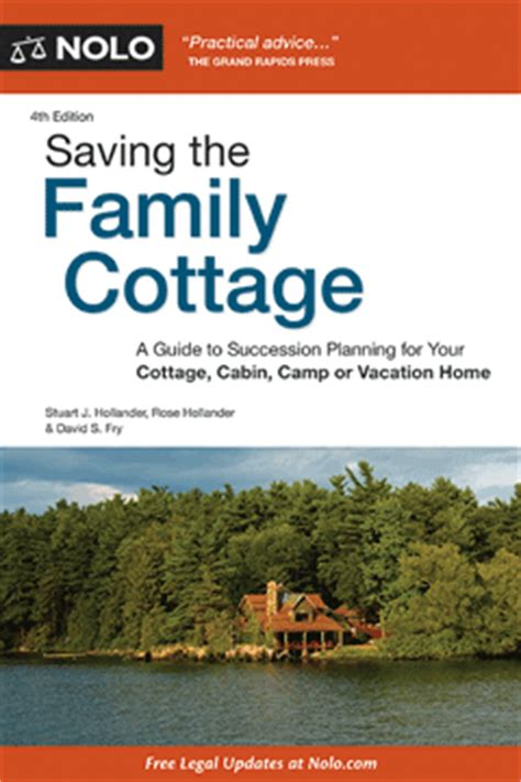 saving the family cottage legal book nolo