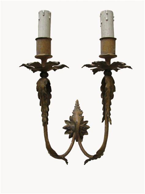 applique in ferro coppia di appliques in ferro battuto ghilli antiquariato